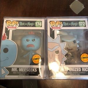 Other - Mr. Meeseeks & Weaponized Rick Chase Funko POP